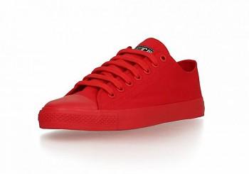 Fair Trainer Monochrome Lo cut tenisky - červená cranberry