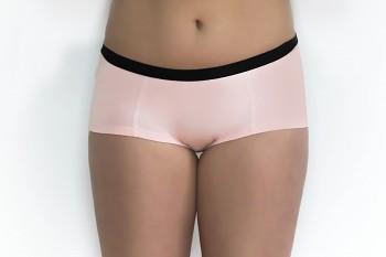 Dámské kalhotky (boyshorts) z biobavlny - růžová