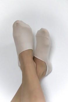 """""""Neviditelné"""" kotníkové ponožky z biobavlny - přírodní"""