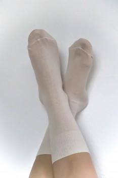 Ponožky ze 100% biobavlny - přírodní