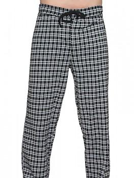 Albero pánské pyžamové kalhoty ze 100% biobavlny - černobílá kostka