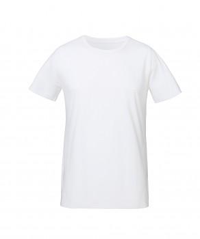 S&S LIVE unisex tričko s kulatým výstřihem ze 100% biobavlny - bílá