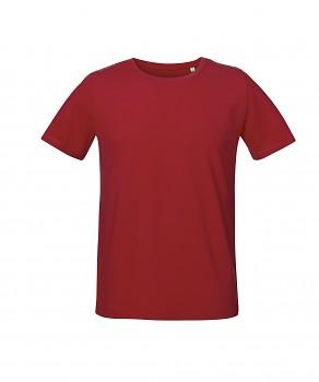 S&S LIVE unisex tričko s kulatým výstřihem ze 100% biobavlny - červená