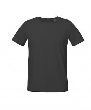 S&S LIVE unisex tričko s kulatým výstřihem ze 100% biobavlny - tmavě šedá antracit