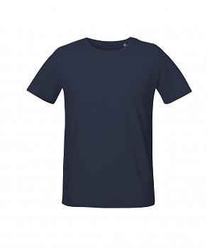 S&S LIVE unisex tričko s kulatým výstřihem ze 100% biobavlny - tmavě modrá french navy