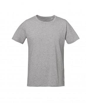 S&S LIVE unisex tričko s kulatým výstřihem ze 100% biobavlny - světle šedá heather