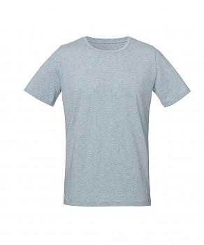 S&S LIVE unisex tričko s kulatým výstřihem ze 100% biobavlny - světle modrá ice blue heather