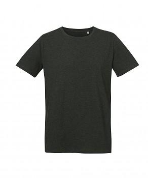 S&S LIVE unisex tričko s kulatým výstřihem ze 100% biobavlny - tmavě šedá dark heather melange