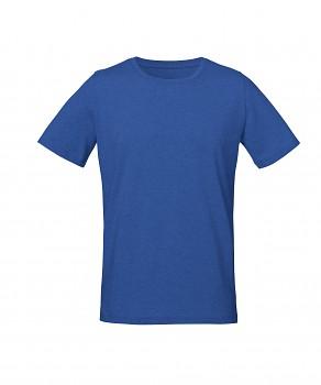 S&S LIVE unisex tričko s kulatým výstřihem ze 100% biobavlny - modrá mid heather royal