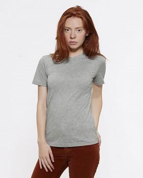 Stella SELECTS dámské tričko s kulatým výstřihem ze 100% biobavlny - světle šedá heather melange