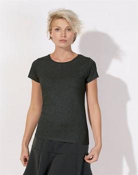 STELLA WANTS Dámské tričko s kulatým výstřihem ze 100% biobavlny - tmavě šedá dark heather grey
