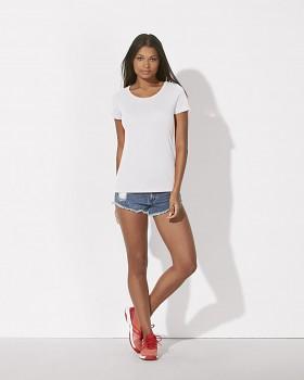 STELLA LOVES MODAL Dámské tričko z modalu a biobavlny - bílá