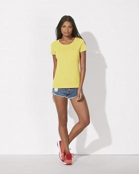STELLA LOVES MODAL Dámské tričko z modalu a biobavlny - žlutá iris