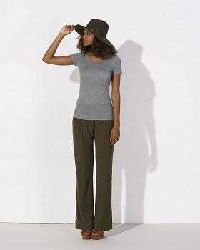 STELLA LOVES MODAL Dámské tričko z modalu a biobavlny - šedá mid heather grey