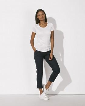 STELLA LOVES LINEN Dámské tričko ze 100% lnu - bílá