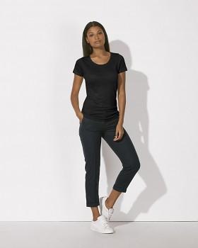 STELLA LOVES LINEN Dámské tričko ze 100% lnu - černá