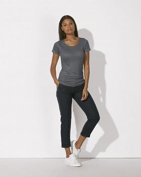 STELLA LOVES LINEN Dámské tričko ze 100% lnu - šedá linen grey