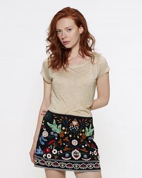 STELLA GLOWS MODAL Dámské tričko s krátkými rukávy ze 100% modalu - béžová mid heather