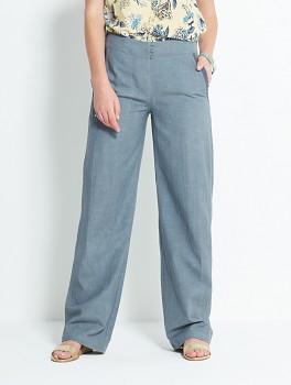 PLAIN dámské letní kalhoty - šedá silver