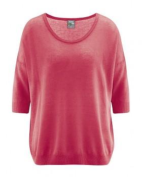 PEARL dámský pulovr z konopí a biobavlny - červená tomato