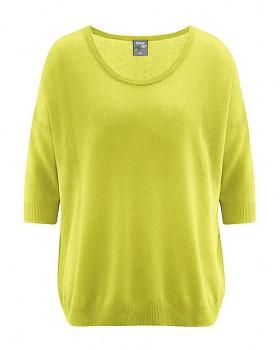 PEARL dámský pulovr z konopí a biobavlny - zelená apple