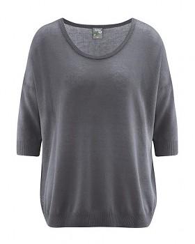 PEARL dámský pulovr z konopí a biobavlny - tmavě šedá antracit