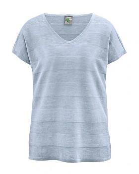 STREIF dámské triko s krátkými rukávy ze 100% konopí - světle modrá clear sky