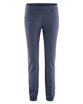 JOGGY dámské jogingové kalhoty z biobavlny a konopí - tmavě modrá wintersky