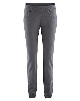 JOGGY dámské jogingové kalhoty z biobavlny a konopí - tmavě šedá antracit