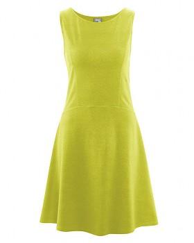 DAISY Dámské šaty z konopí a biobavlny - zelená apple