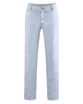 METRO unisex kalhoty ze 100% konopí - světle modrá clear sky