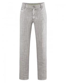 METRO unisex kalhoty ze 100% konopí - světle hnědá mud