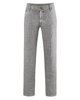 METRO unisex kalhoty ze 100% konopí - šedohnědá taupe