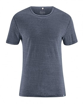 RUND pánské tričko ze 100% konopí - tmavě šedá grafit