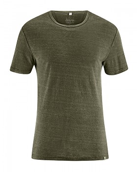 RUND pánské tričko ze 100% konopí - khaki wolf