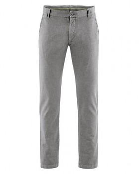 CHINO pánské kalhoty z konopí a biobavlny - šedohnědá taupe