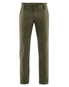 CHINO pánské kalhoty z konopí a biobavlny - khaki wolf