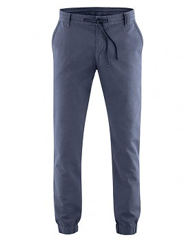 CORD pánské chino kalhoty z konopí a biobavlny - tmavě modrá wintersky