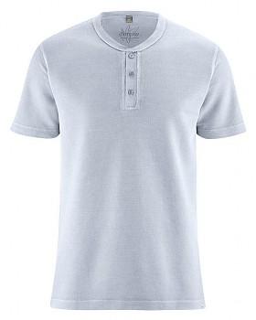 HENLEY pánské tričko z konopí a biobavlny - světle modrá clear sky
