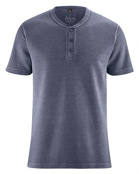 HENLEY pánské tričko z konopí a biobavlny - tmavě modrá wintersky