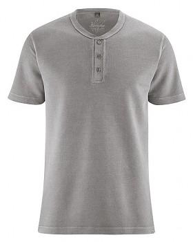 HENLEY pánské tričko z konopí a biobavlny - šedohnědá taupe
