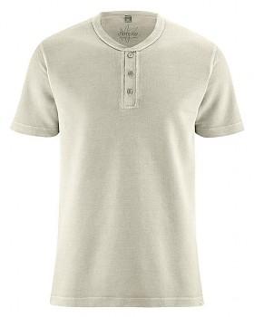 HENLEY pánské tričko z konopí a biobavlny - béžová hanf