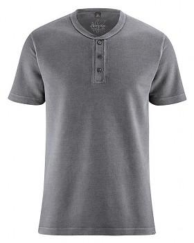 HENLEY pánské tričko z konopí a biobavlny - tmavě šedá antracit