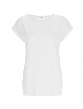 CC Dámské tričko z bambusu a biobavlny - bílá
