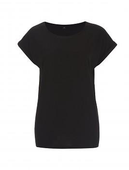 CC Dámské tričko z bambusu a biobavlny - černá