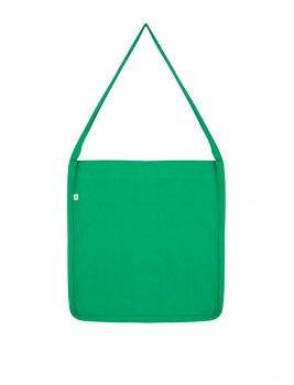 Nákupní taška SALVAGE SLING z recyklované biobavlny a PET - zelená melange