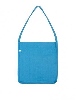 Nákupní taška SALVAGE SLING z recyklované biobavlny a PET - světle modrá melange