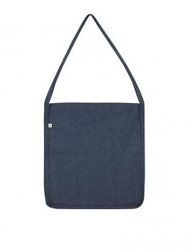 Nákupní taška SALVAGE SLING z recyklované biobavlny a PET - tmavě modrá navy melange