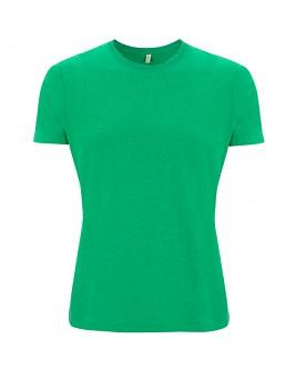 SALVAGE Unisex tričko z recyklované biobavlny a PET - zelená melange