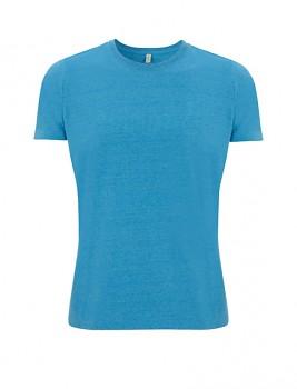 SALVAGE Unisex tričko z recyklované biobavlny a PET - světle modrá melange